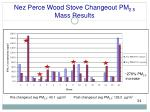 nez perce wood stove changeout pm 2 5 mass results1