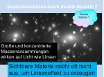 gravitationslinsen durch dunkle materie