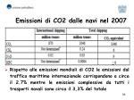 emissioni di co2 dalle navi nel 2007