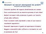 mutamenti nei mercati internazionali dei prodotti situazione nell unione europea