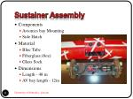 sustainer assembly