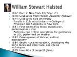 william stewart halsted