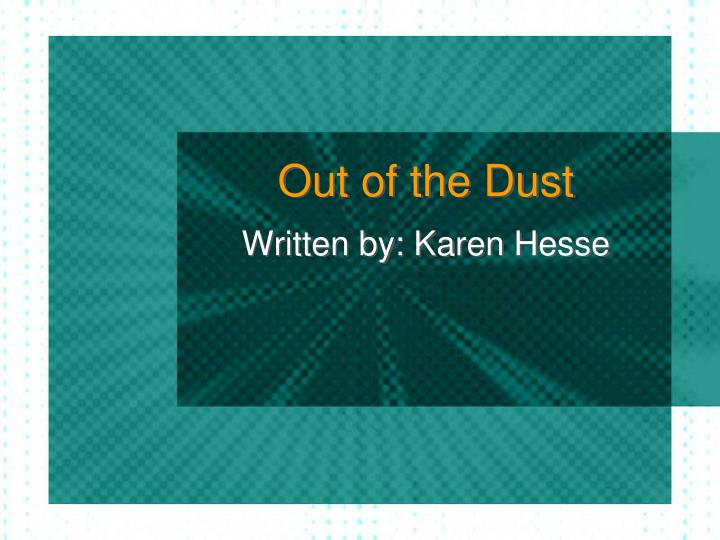 out of the dust n.