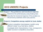 2010 underc projects