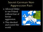 soviet german non aggression pact