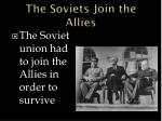 the soviets join the allies