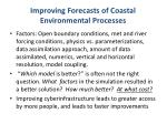 improving forecasts of coastal environmental processes