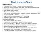 shelf hypoxia team