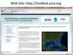 web site http testbed sura org