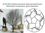 05 02 2012 sar kam tesislerine kad n personele sosyal yard mla ma ve dayan ma gezisi d zenlendi