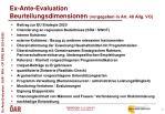 ex ante evaluation beurteilungsdimensionen vorgegeben in art 48 allg vo
