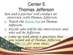 center 5 thomas jefferson