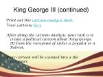 king george iii continued