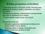 el islam percepciones en occidente