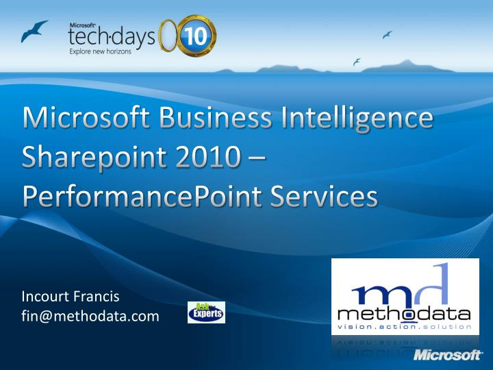 microsoft business intelligence sharepoint 2010 performancepoint services n.