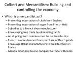 colbert and mercantilism building and controlling the economy