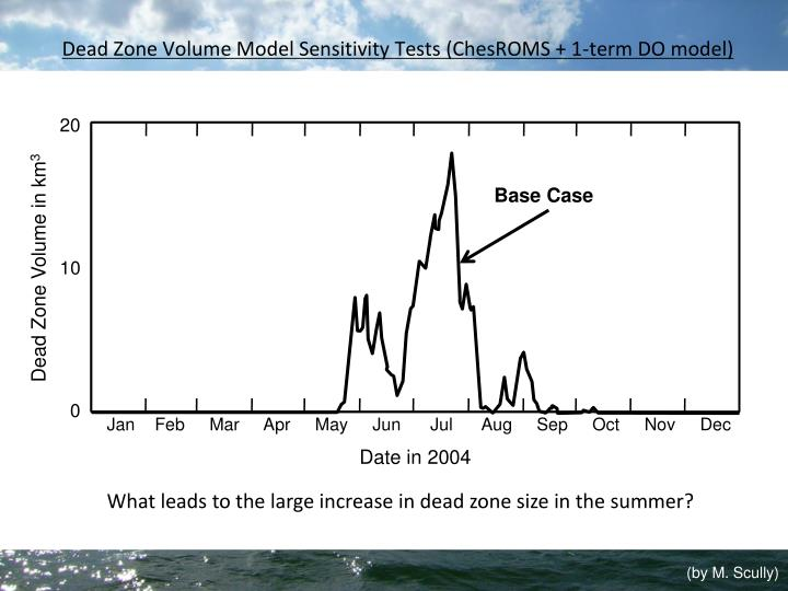 Dead Zone Volume Model Sensitivity Tests (ChesROMS + 1-term DO model)
