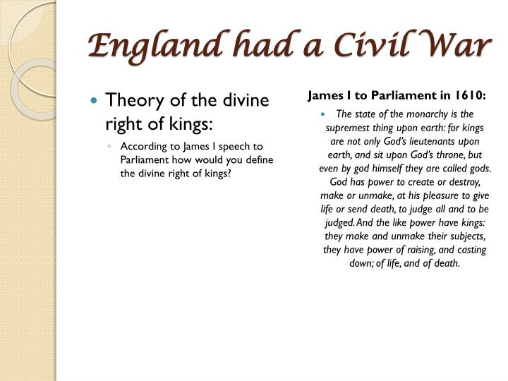 England had a Civil War