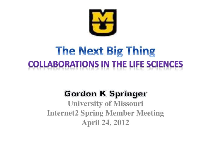 the next big thing collaborations in the life sciences n.