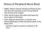 history of peripheral nerve block