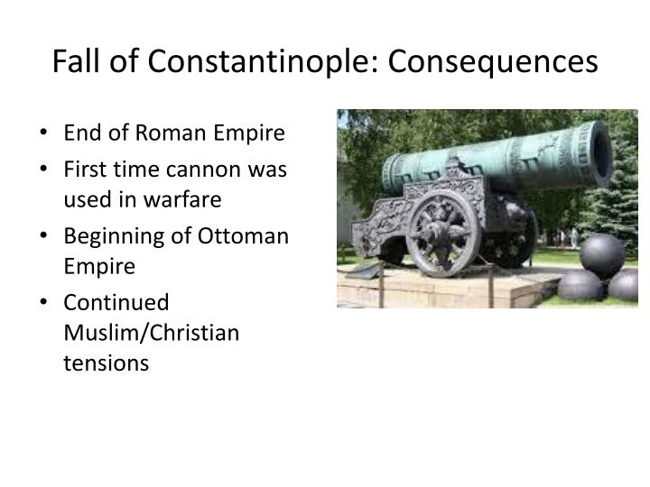 Fall of Constantinople: Consequences