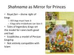 shahnama as mirror for princes