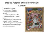steppe peoples and turko persian culture