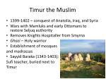 timur the muslim1