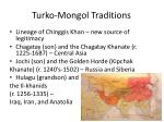 turko mongol traditions
