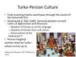 turko persian culture