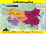 the effects mongol rule