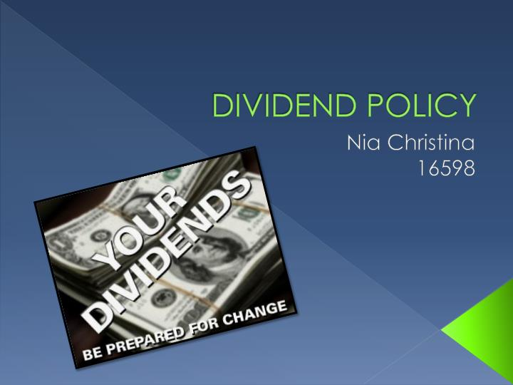 dividend policy n.