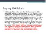 praying 100 rakahs