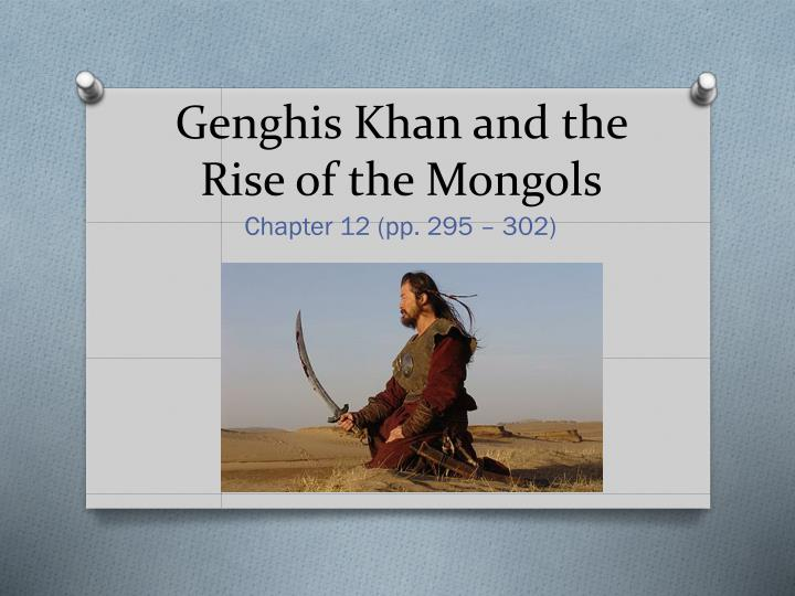 genghis khan and the rise of the mongols n.