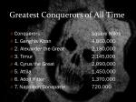 greatest conquerors of all time
