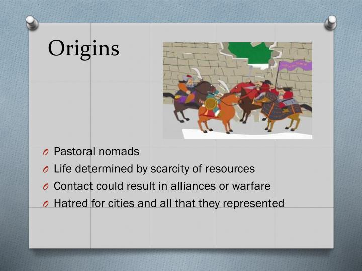 pastoral and nomadic vs urban based societies Pastoral groups tend to settle in one place while nomadic group tend to move constantly pastoral groups try to attract nomadic groups and pastoral group fought each other for land military threat required civilizations to have military defense ready all the time.