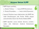 aturan untuk kjpp