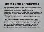 life and death of muhammad