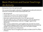 basic practices and social teachings an activity