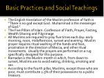 basic practices and social teachings1