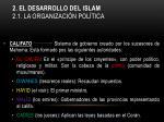 2 el desarrollo del islam 2 1 la organizaci n pol tica