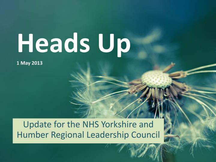 heads up 1 may 2013 n.