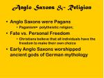 anglo saxons religion