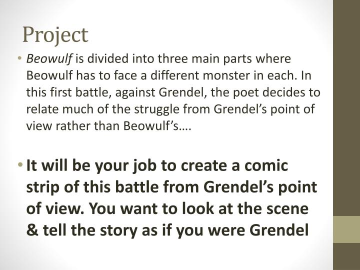 a differente perspective of grendel from Such examples can be seen in the sympathetic view of grendel as a  true of a  language like old english, which hails from both a different time and culture.