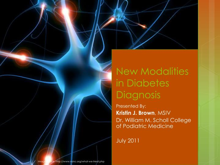 new modalities in diabetes diagnosis n.