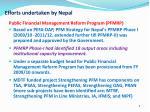 efforts undertaken by nepal