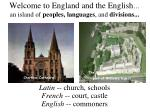 welcome to england and the english an island of peoples languages and divisions