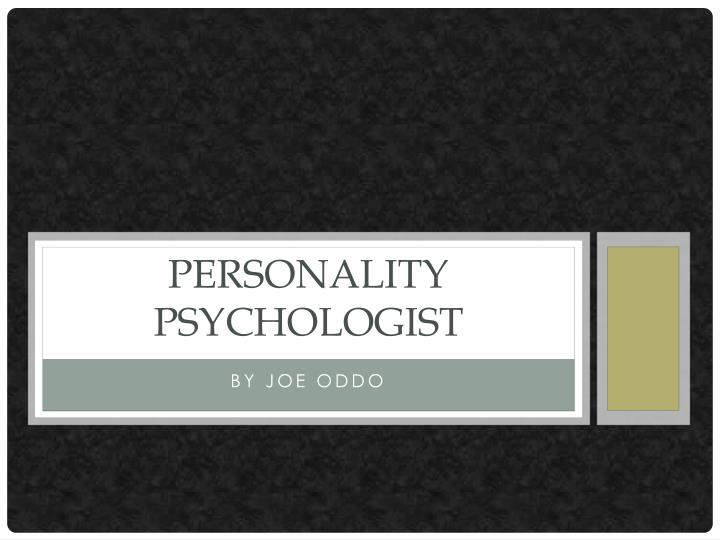 personality psychologist n.