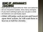some of muhammad s teachings