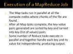 execution of a mapreduce job